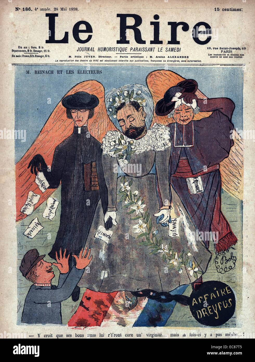 Satirical magazine cover of 'Le Rire' - Stock Image