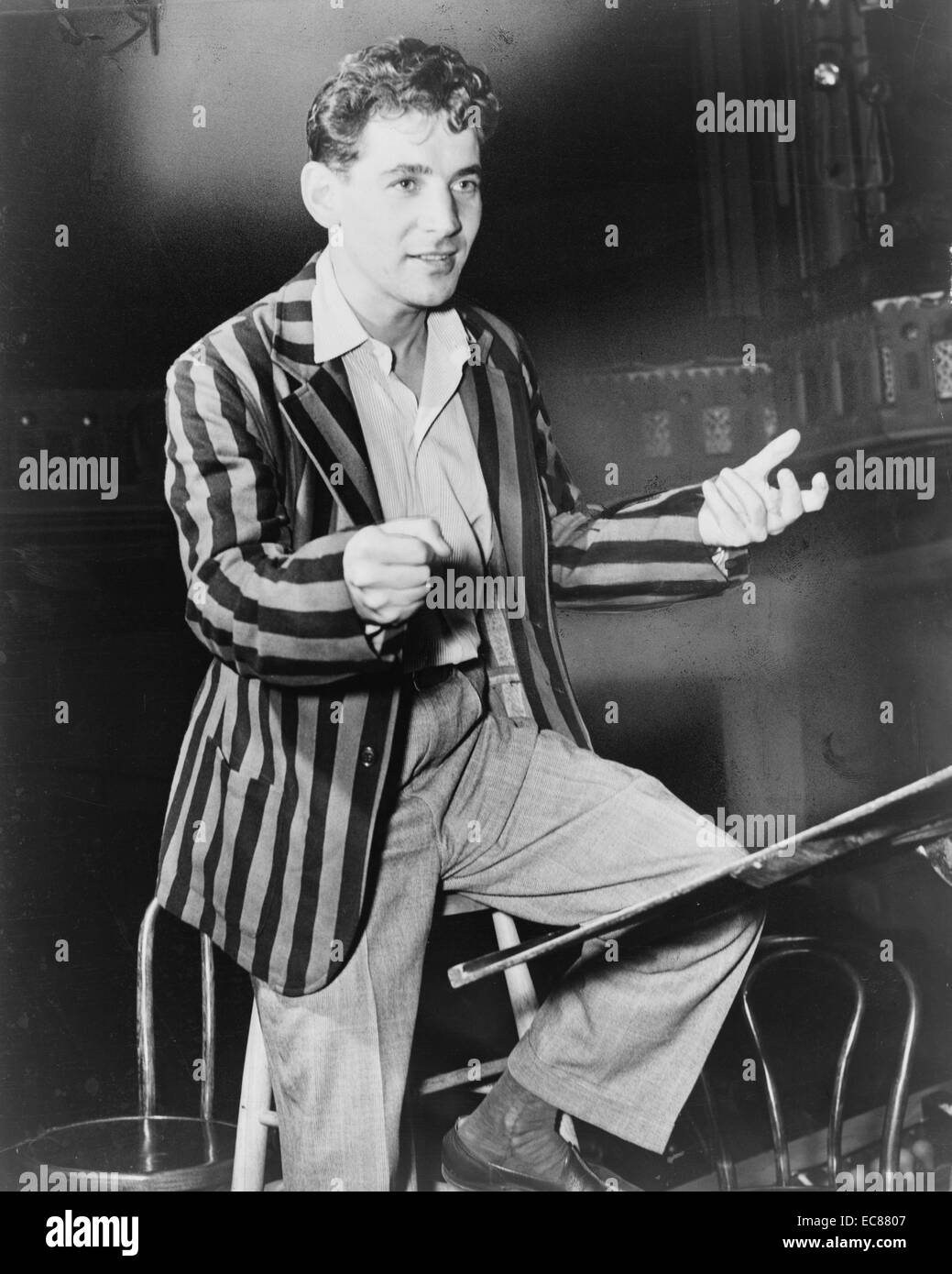 Photograph of Leonard Bernstein - Stock Image
