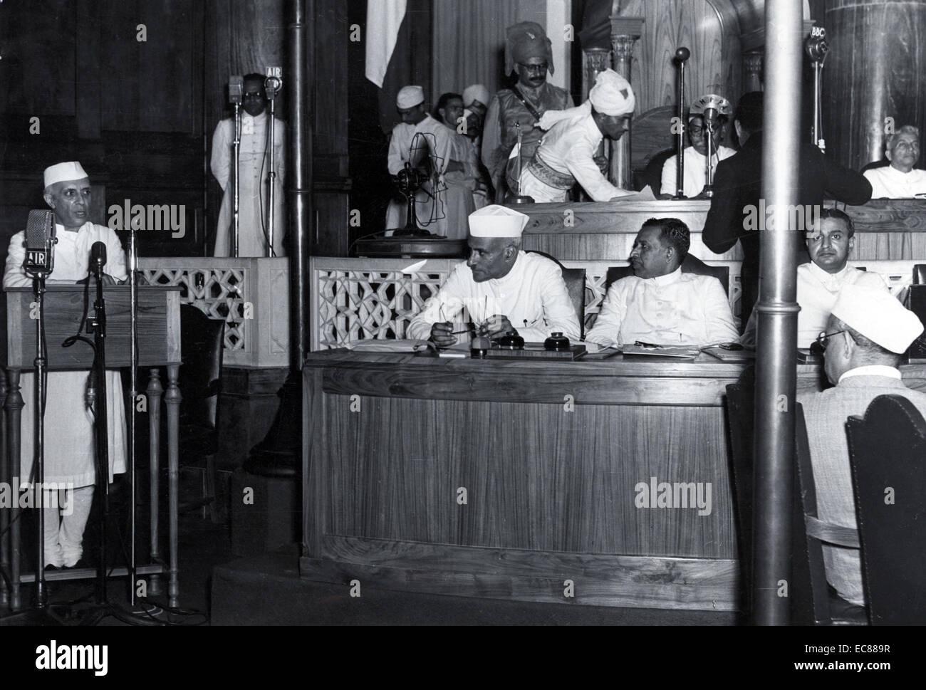 Photograph of Jawaharlal Nehru - Stock Image