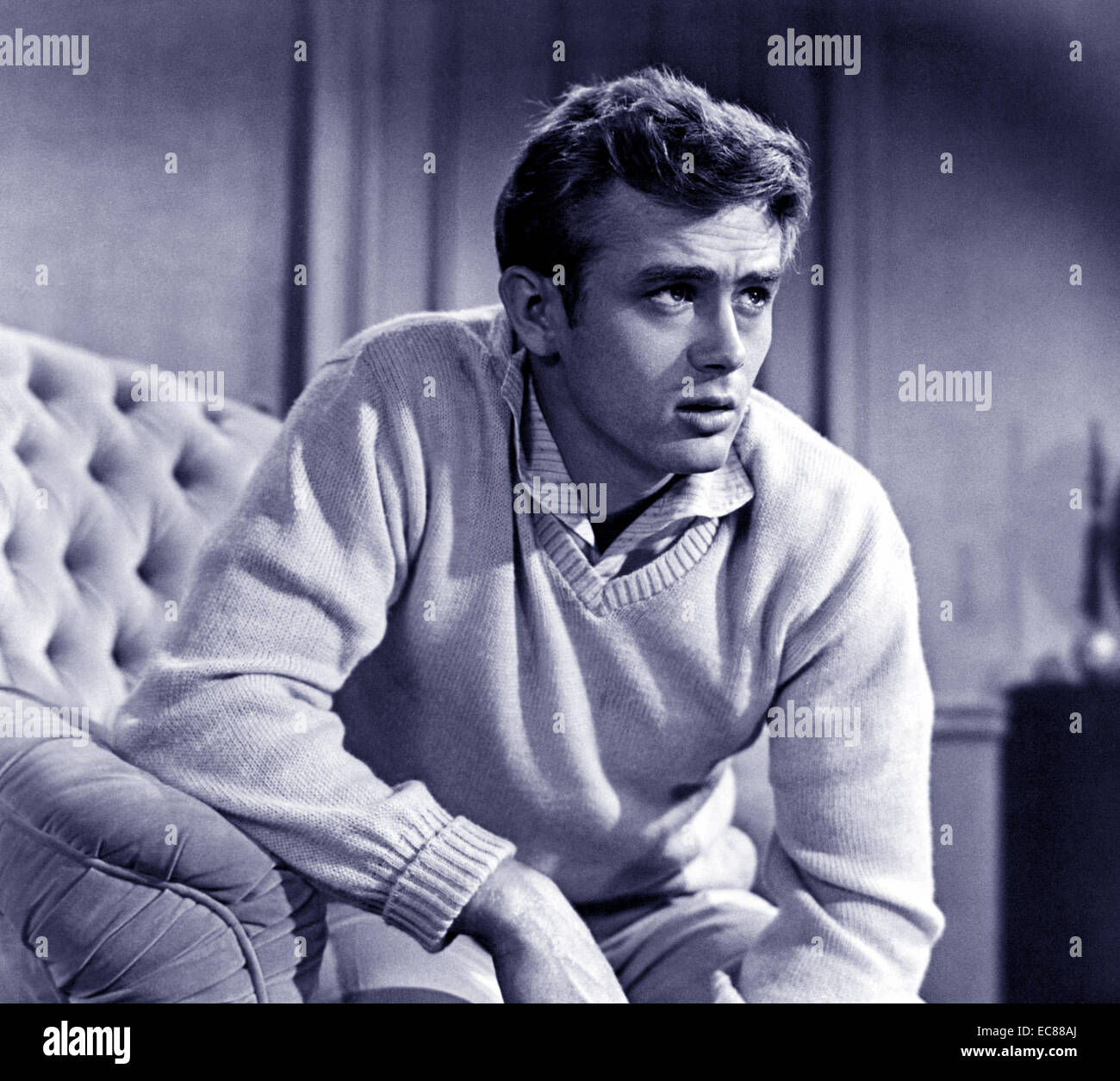 Photograph of James Byron Dean (1931-1955) American actor in the film 'East of Eden'. Dated 1955 - Stock Image