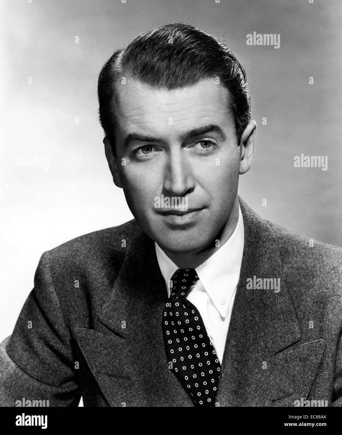 Photograph of James 'Jimmy' Stewart - Stock Image