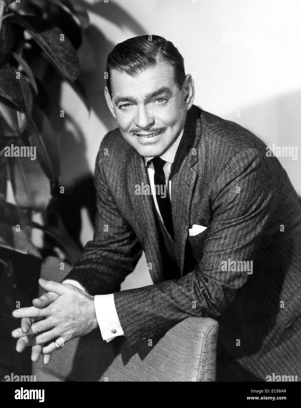 Photograph of Clark Gable (1901-1960) American film actor. Dated 1950 - Stock Image
