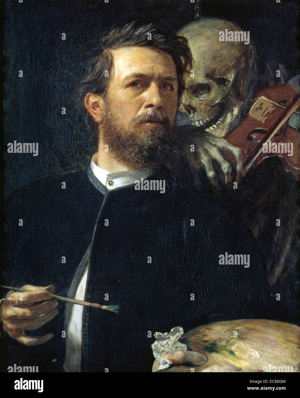 Self portrait by Arnold Böcklin (1827-1901) A Swiss symbolist painter. Dated 1872 - Stock Image