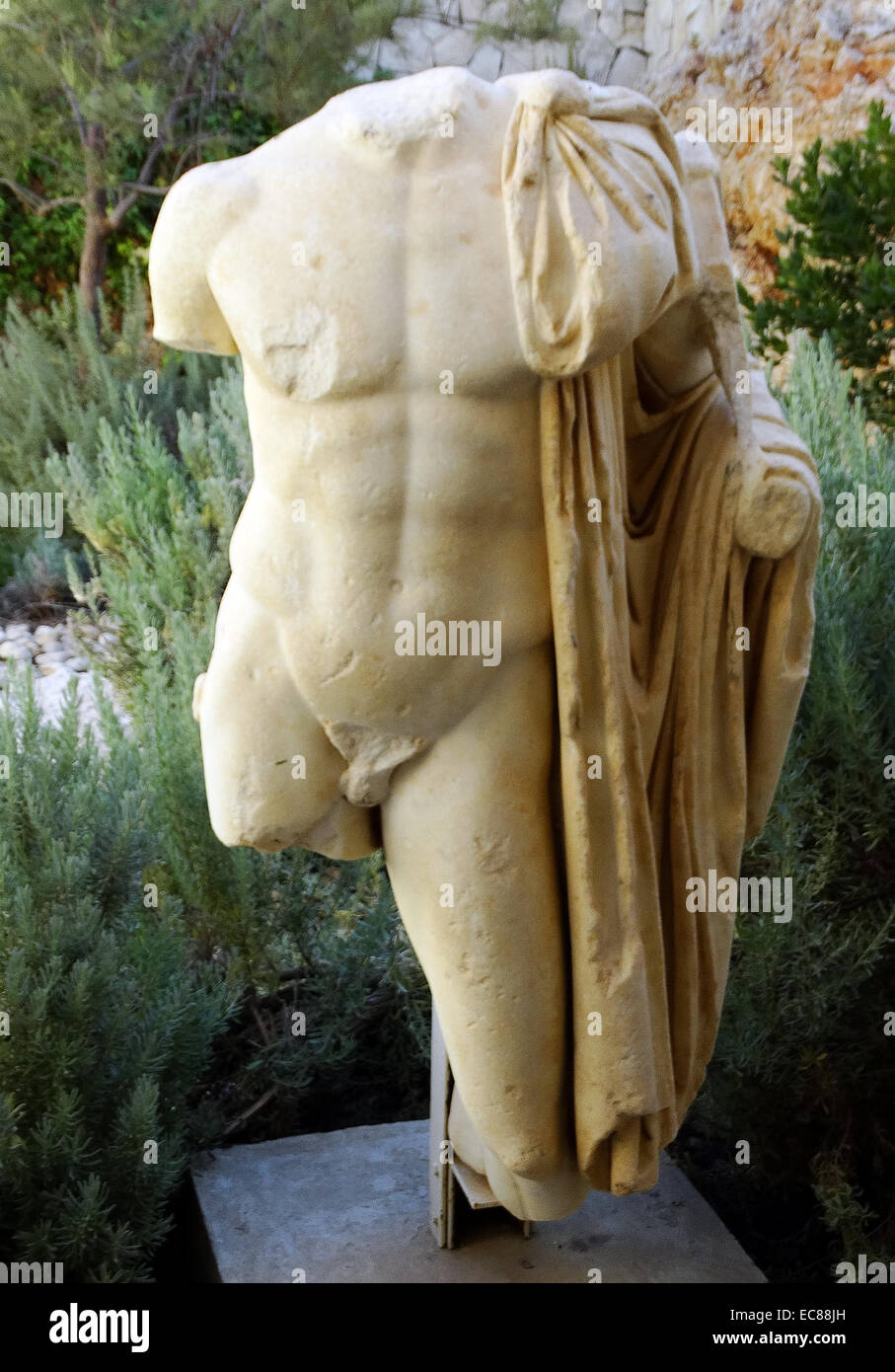 Marbel statue of a Roman Commander from the Roman period. - Stock Image