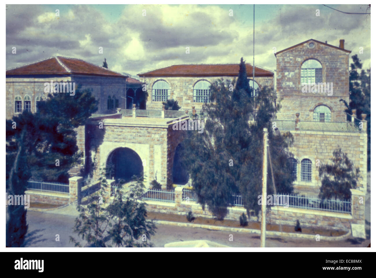 The American Colony (Now the American Colony Hotel), East Jerusalem; Palestine (Israel) 1950 Stock Photo