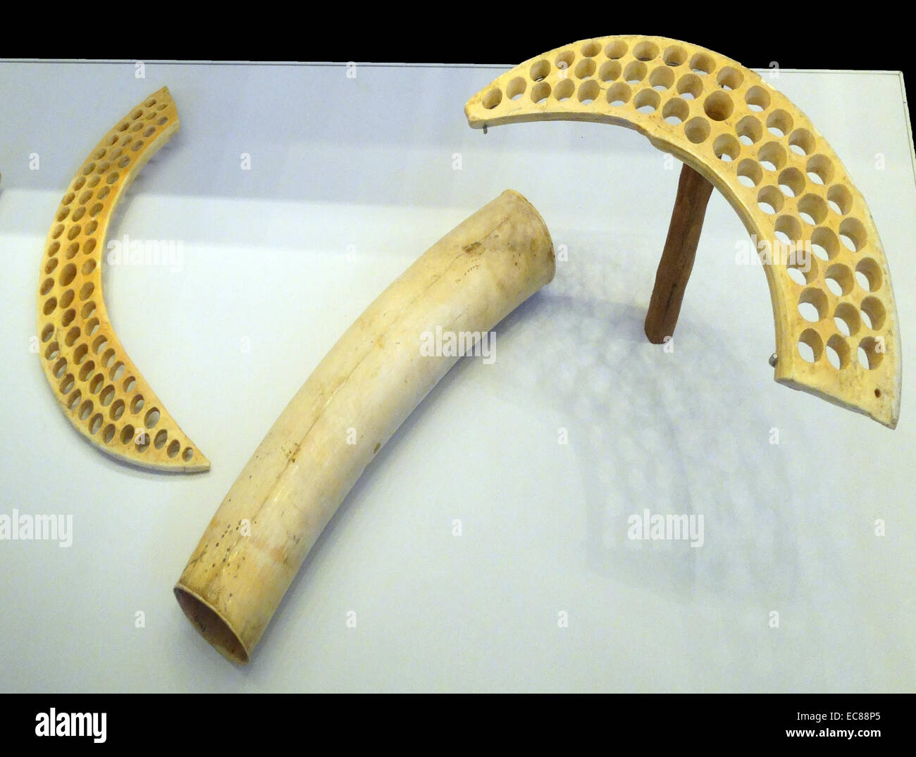 Selection of objects from the En Gedi hoard - Stock Image