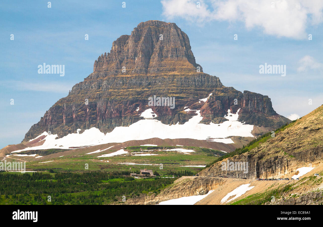 Clements Mountain in Glacier National Park, Montana - Stock Image