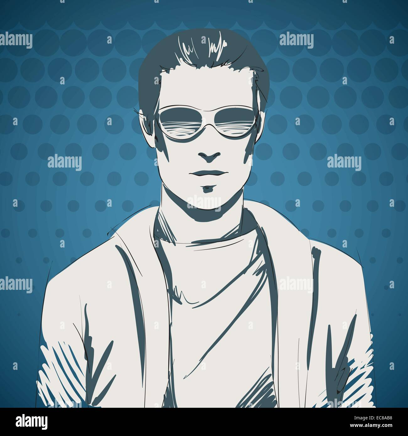 3bf45b3d504 Stylish young guy portrait wearing glasses and pullover
