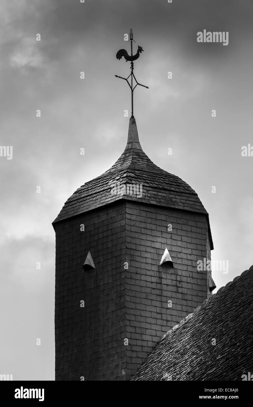 church roof architecture building exterior - Stock Image