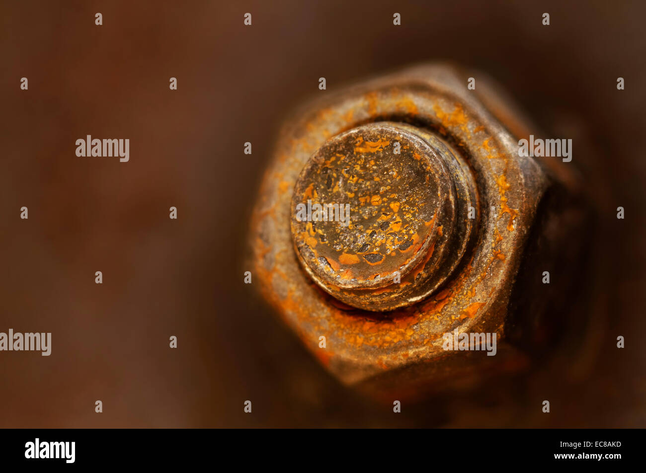 rusty nut and bolt - Stock Image