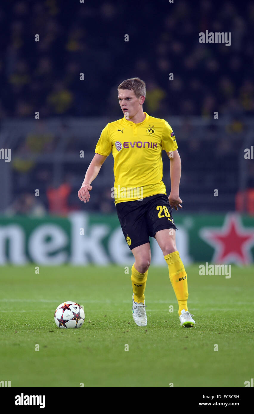 Dortmund's Matthias Ginter in action during the Champions League Group D football match between BorussiaDortmund - Stock Image