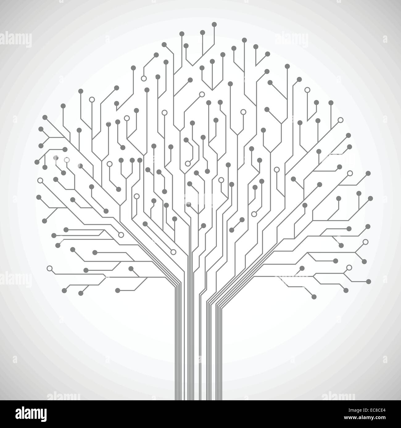 Abstract Computer Technology Integrated Circuit Board Tree Symbol Circuitelectronic Ic Buy Circuitpcb Emblem Or Poster Vector Illustration