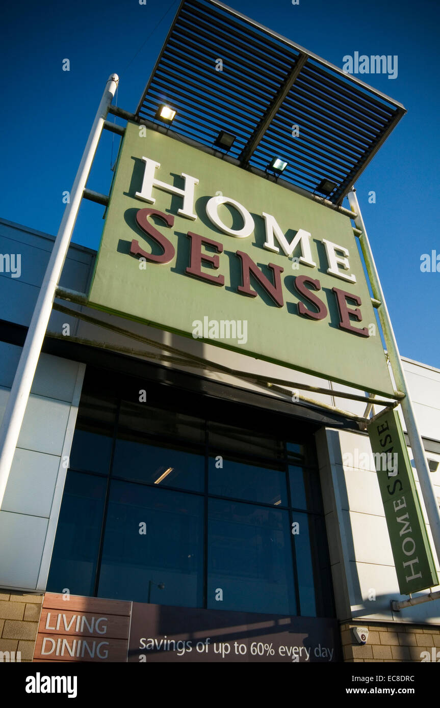 home sense furniture retailer uk store stores out off town superstore superstores discount furnishings tk maxx t.k - Stock Image