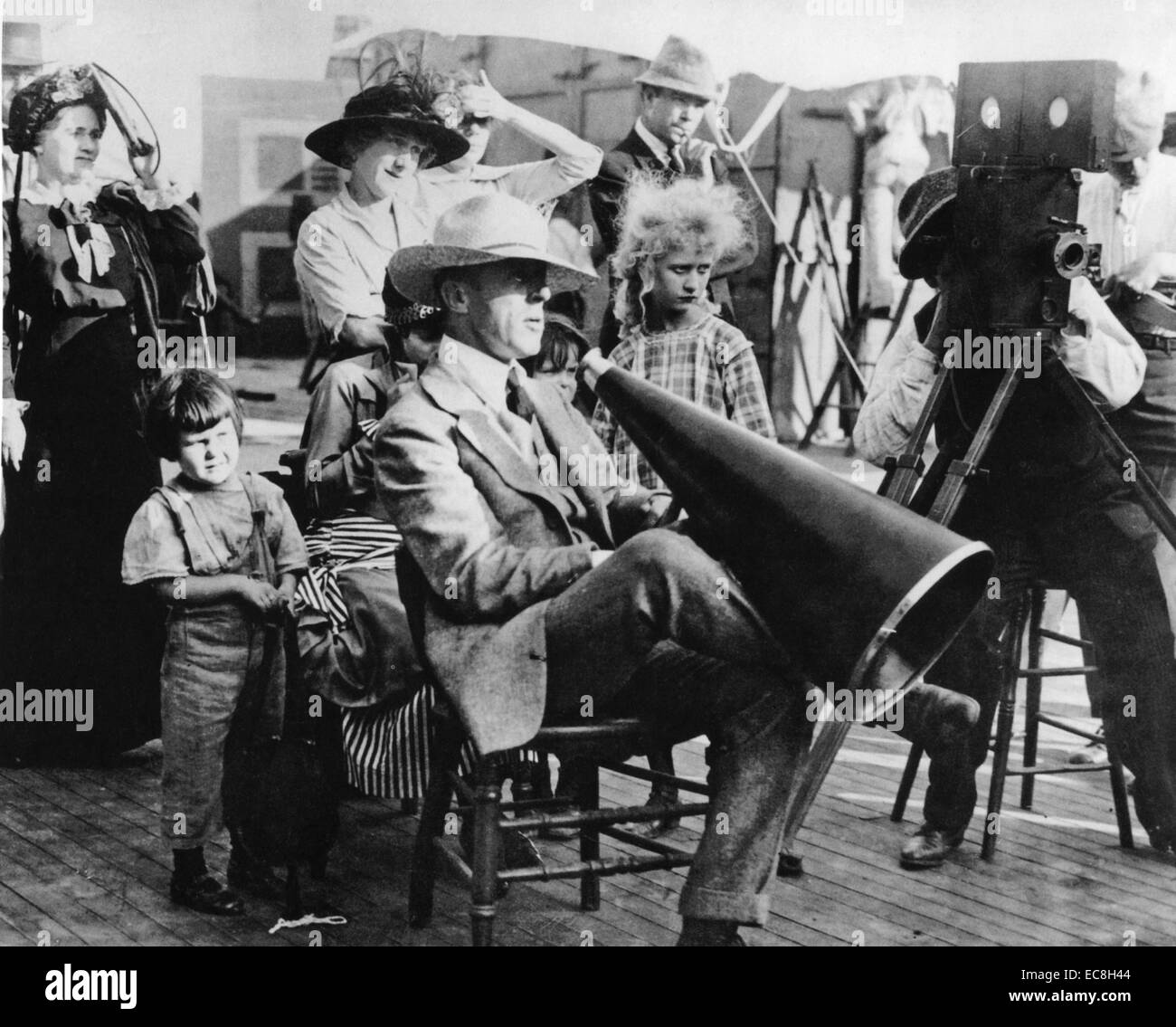 D.W.GRIFFITH (1875-1948) American film director about 1910 - Stock Image