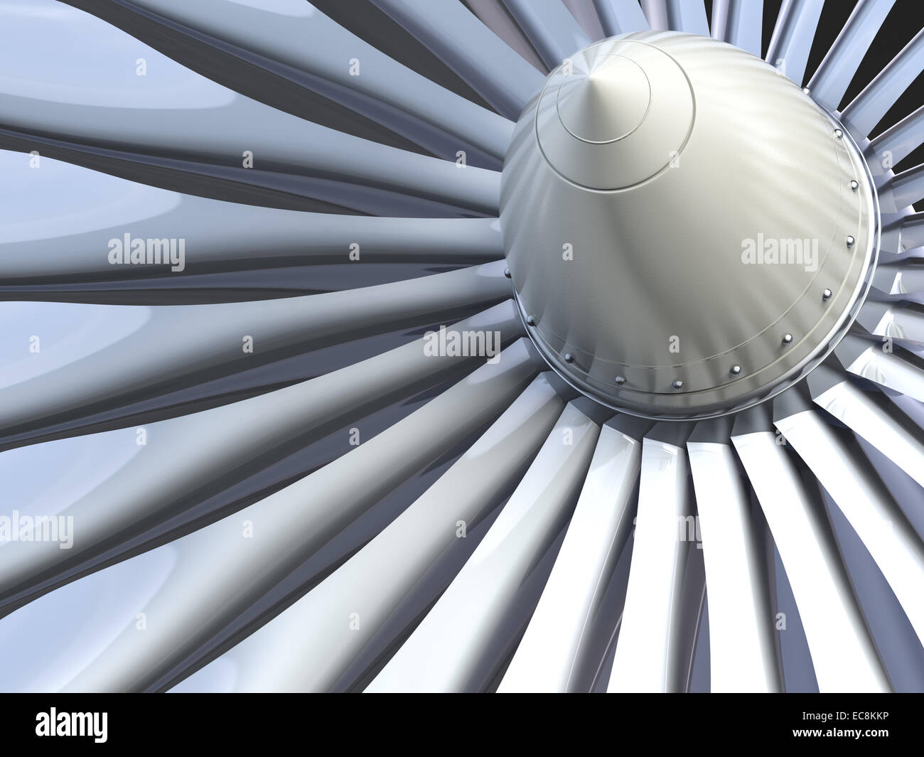 Turbo jet engine - Stock Image