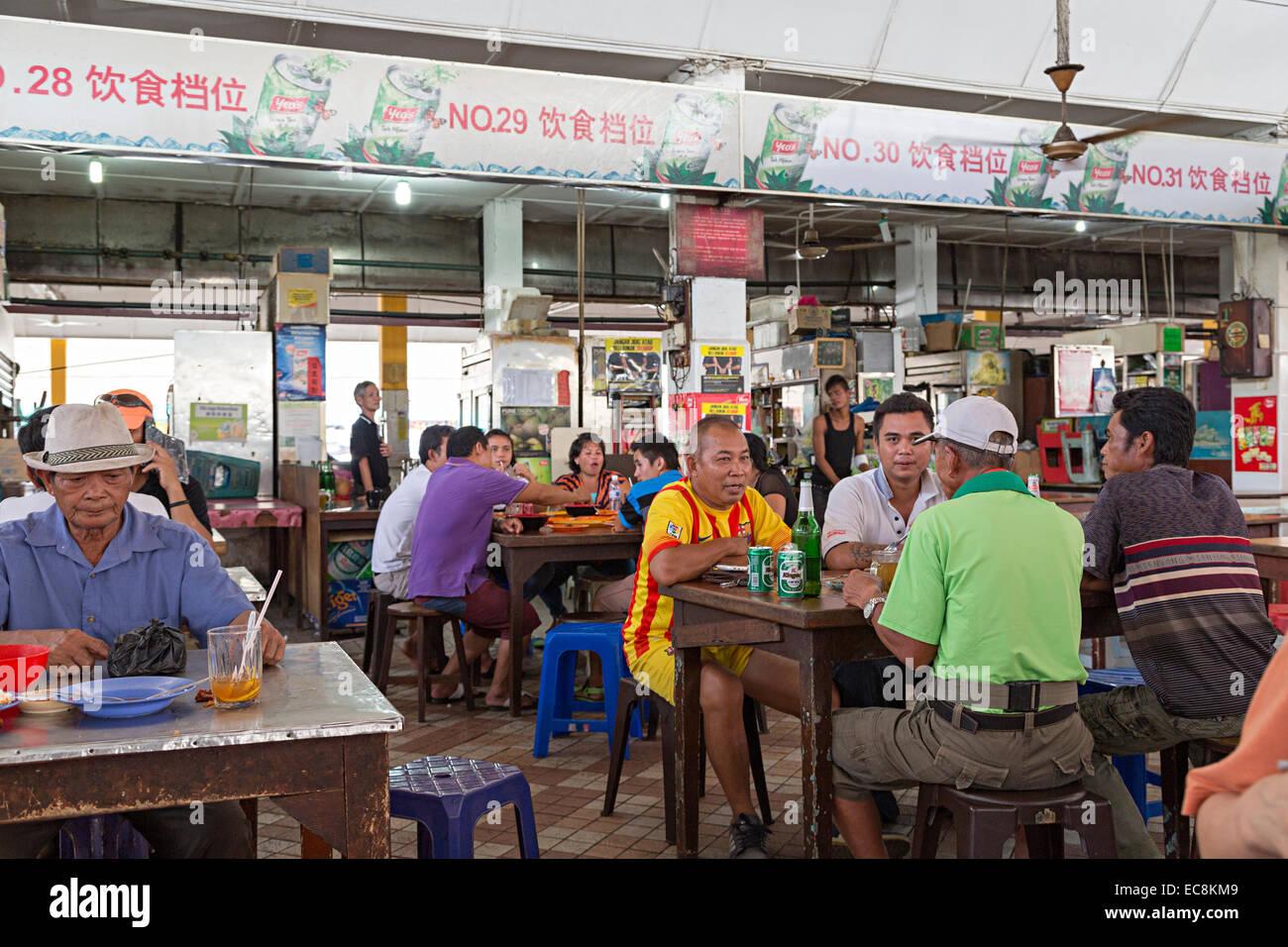 Cafe, Miri, Malaysia - Stock Image