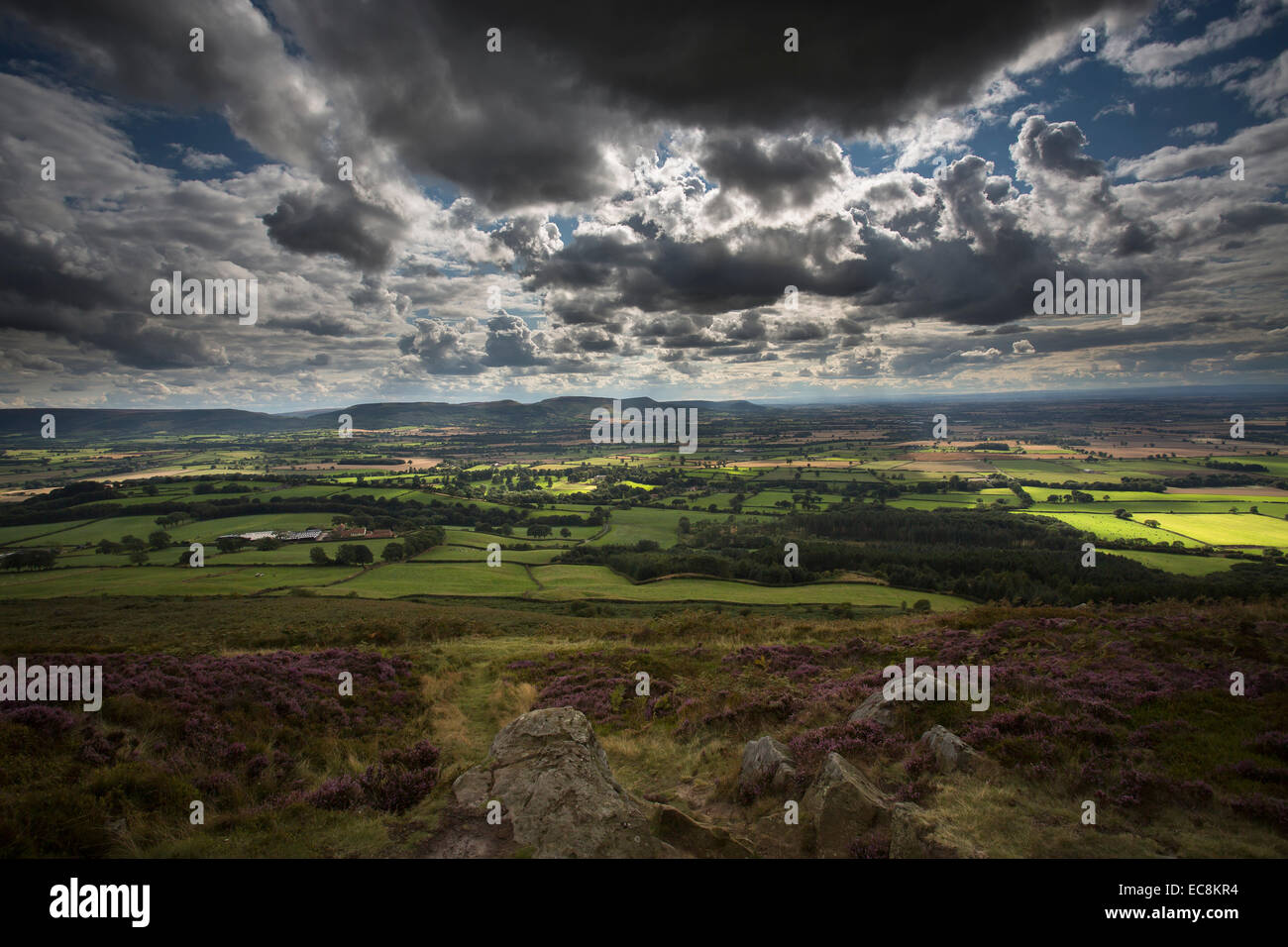 The Cleveland Hills from Kildale Moor North York Moors National Park. - Stock Image