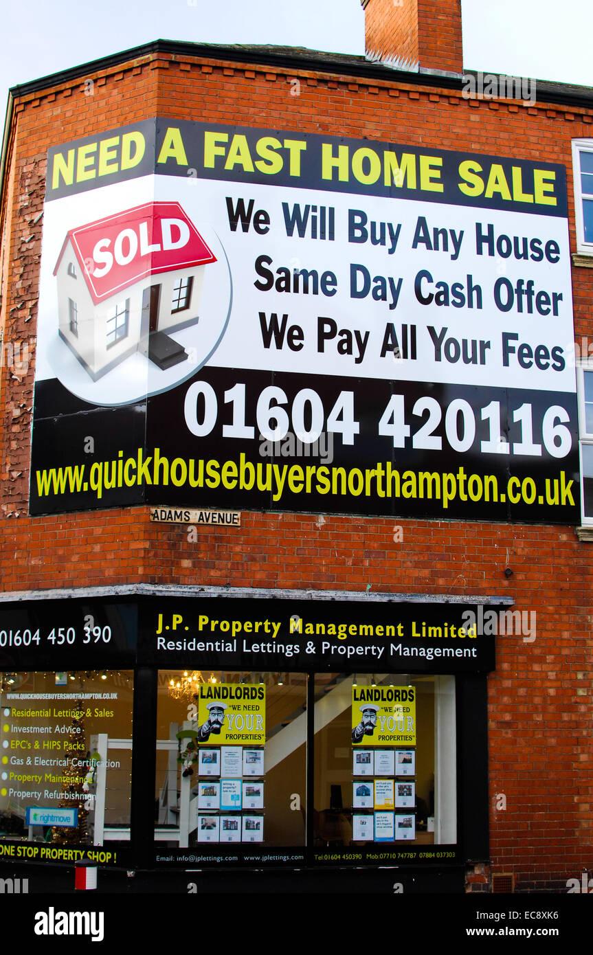 Estate agent sign - Stock Image
