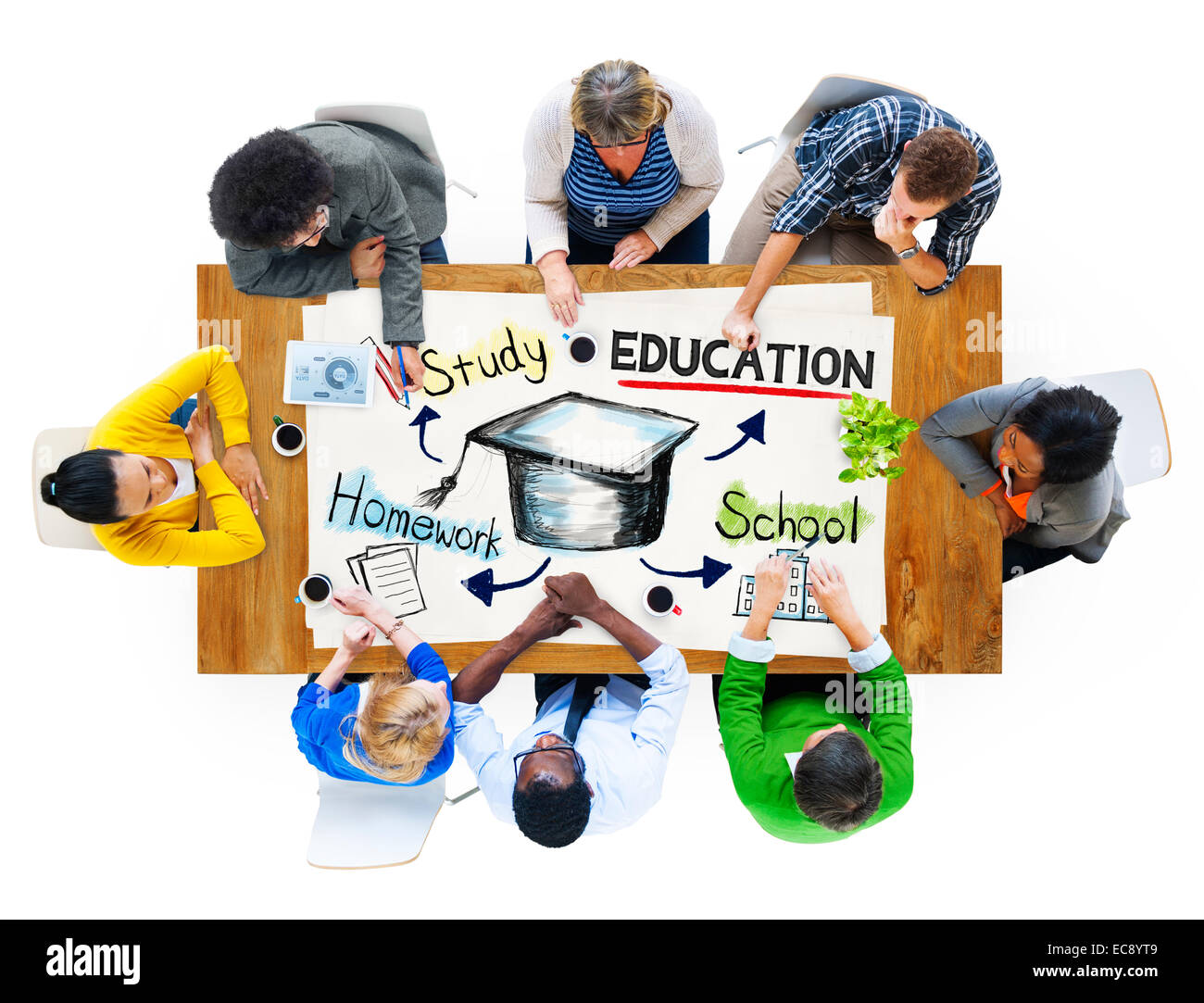 Business People in a Meeting with Education Concept - Stock Image