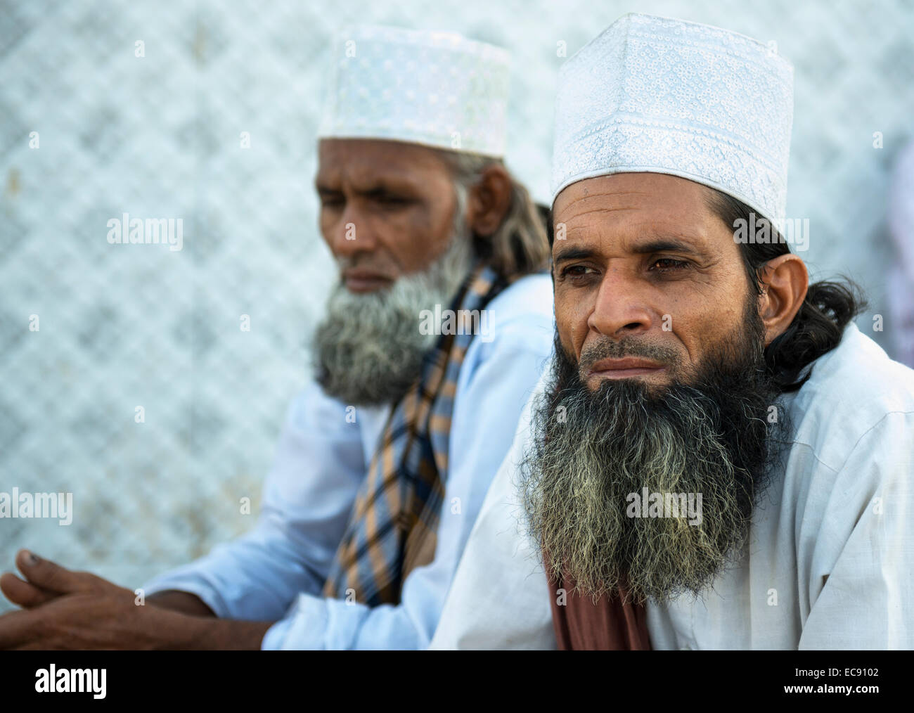 Indian Muslim men wearing a traditional hat Stock Photo  76415698 ... ed28f4022