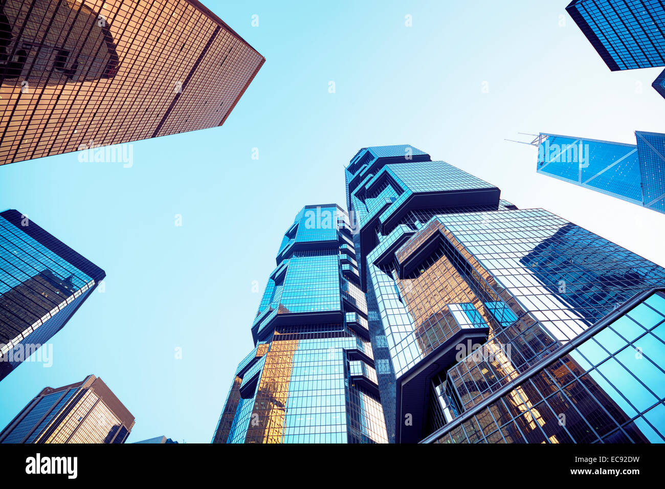 Central district in Hong Kong. - Stock Image