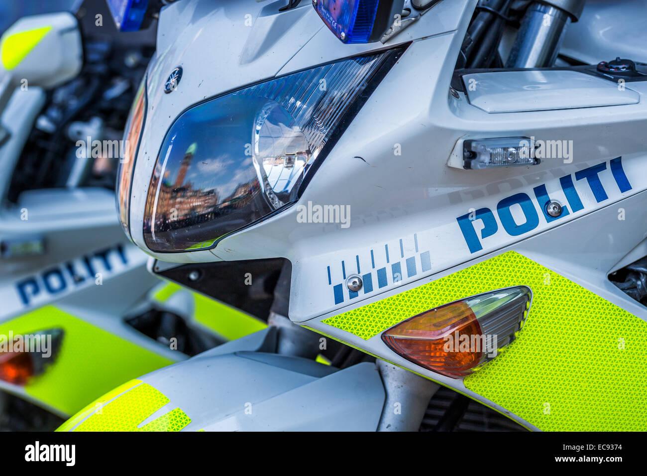 Police motorbikes, Denmark - Stock Image