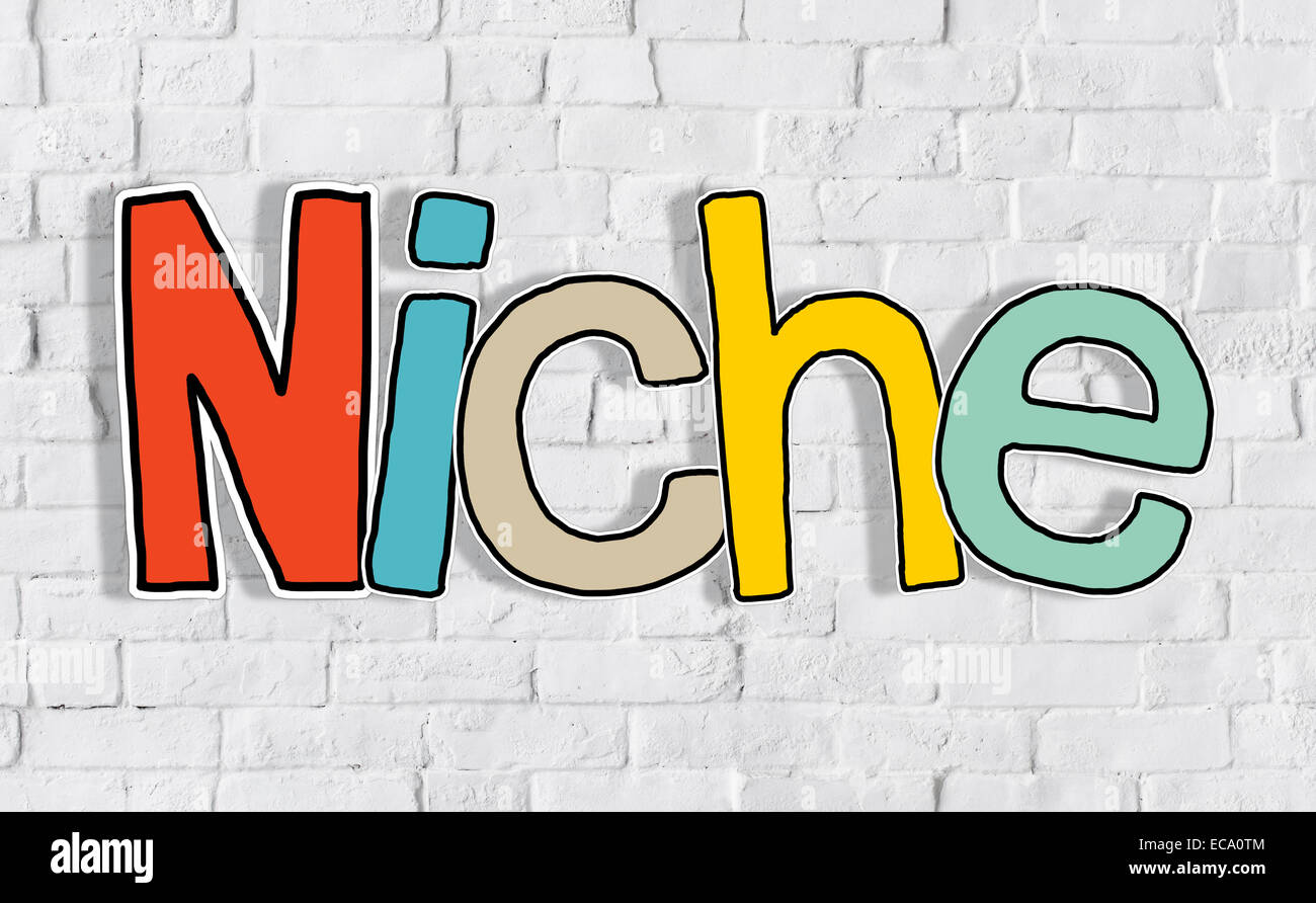 Niche Business Marketing Specific Conceptual Commerce Segregated Concept - Stock Image