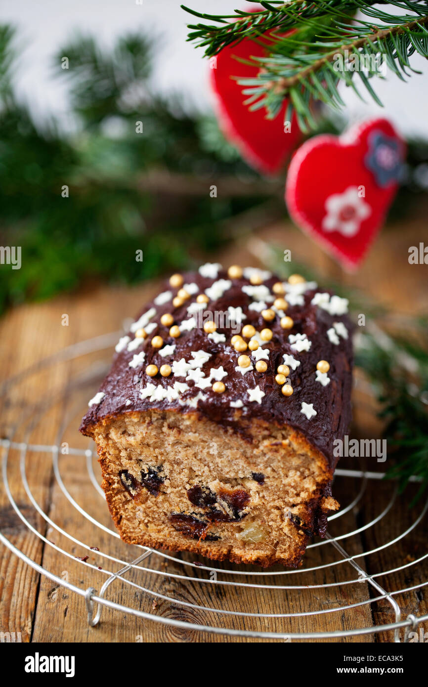 Sticky ginger cake with prunes - Stock Image