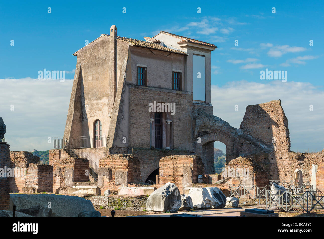 Domus Flavia, or Flavian Palace, on the Palatine, Rione X Campitelli, Rome, Lazio, Italy - Stock Image