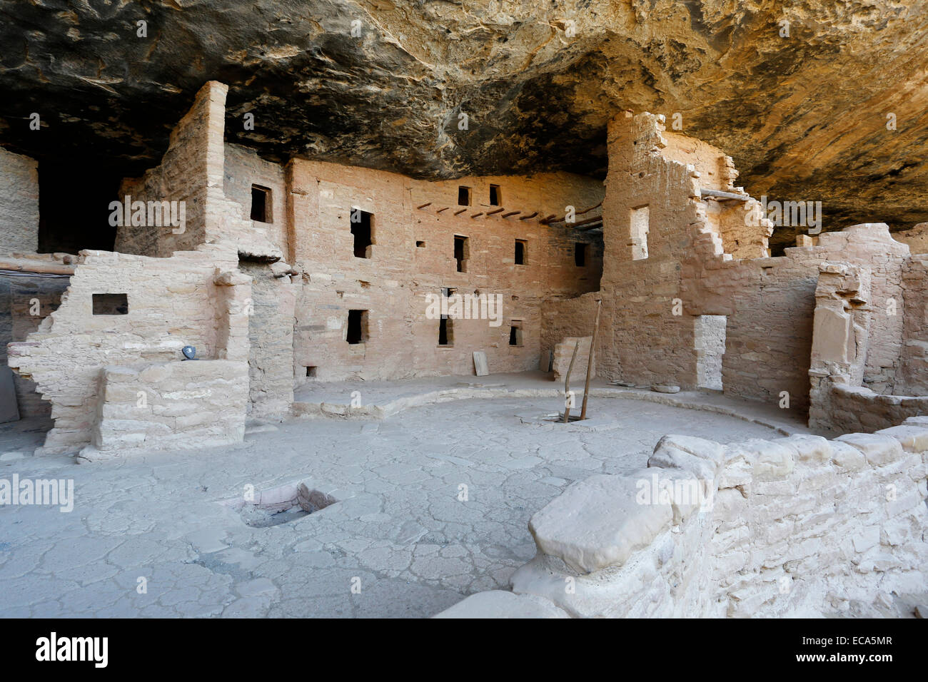 Spruce Tree House, cliff dwellings of the Anasazi, Mesa Verde National Park, Colorado, United States - Stock Image
