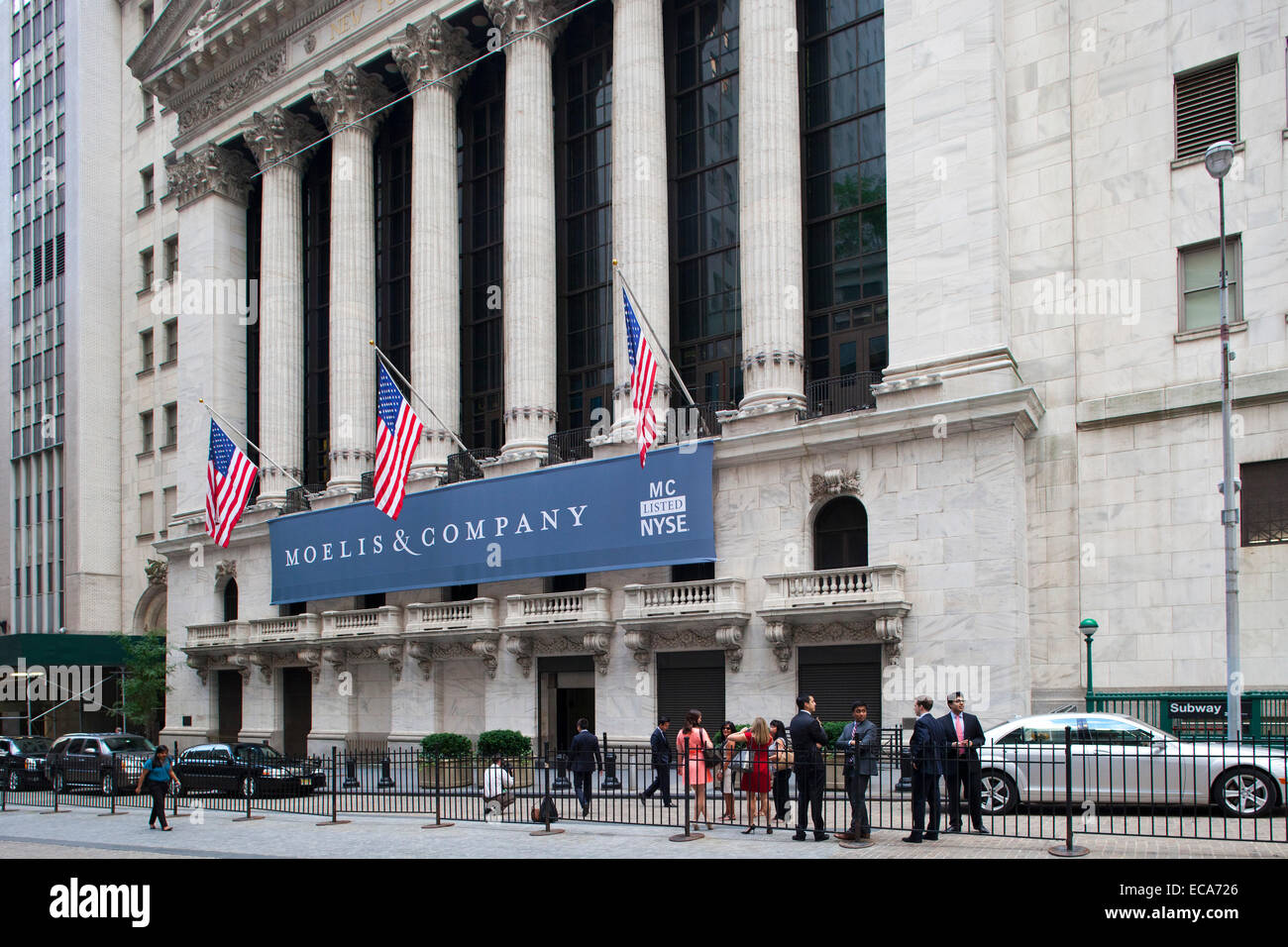 new york stock exchange, wall street, financial district