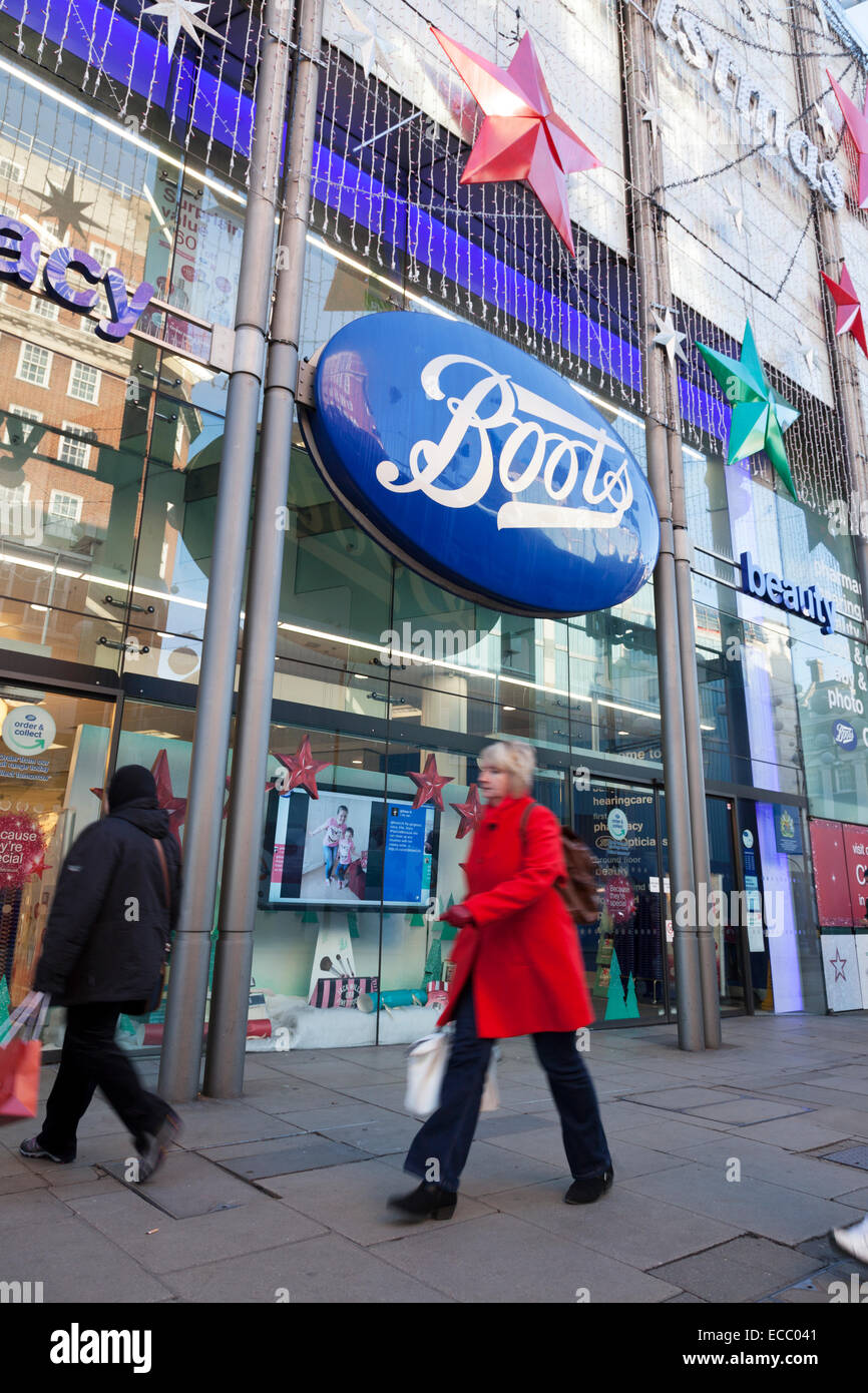 Boots the chemist on Oxford Street - Stock Image
