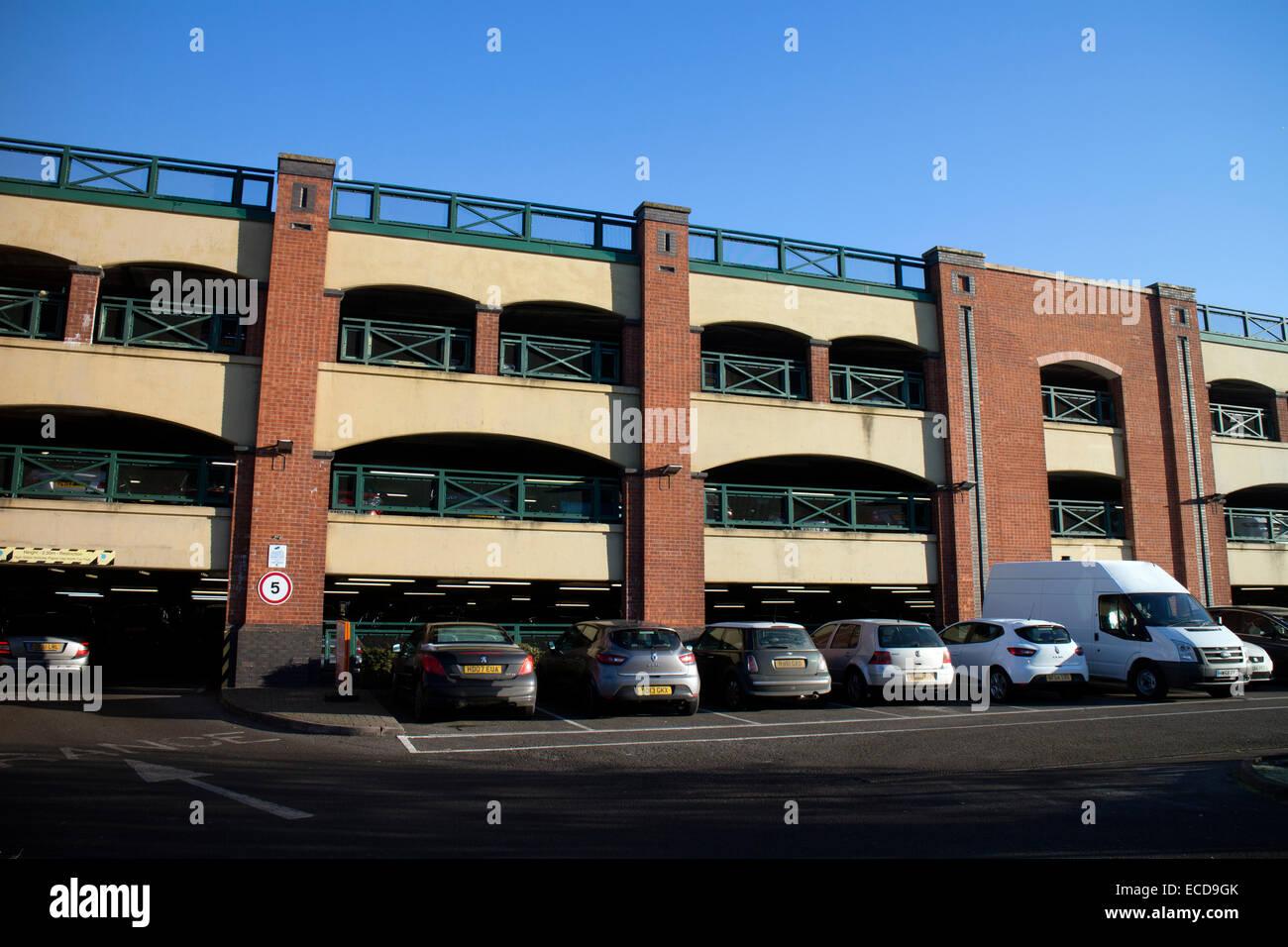 Castle Quay car park, Banbury, Oxfordshire, England, UK - Stock Image