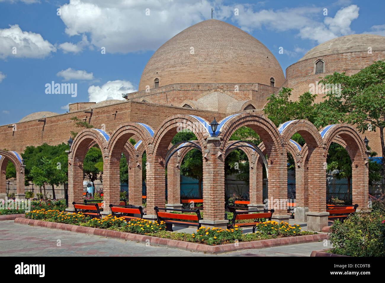 Blue Mosque in the city Tabriz, East Azerbaijan, Iran - Stock Image