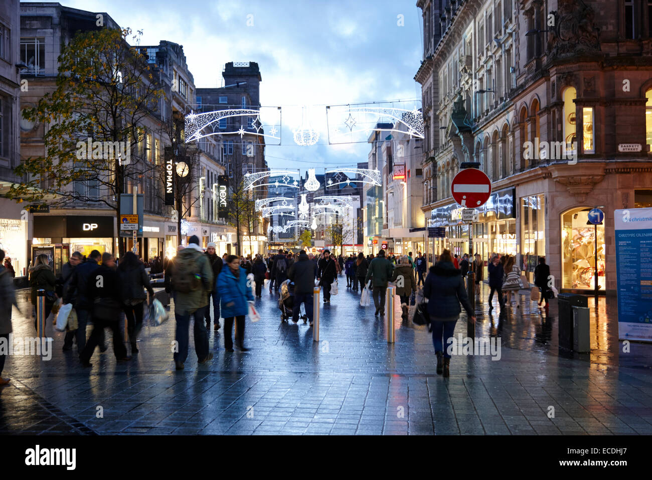 Liverpool city centre church street christmas shopping area UK - Stock Image