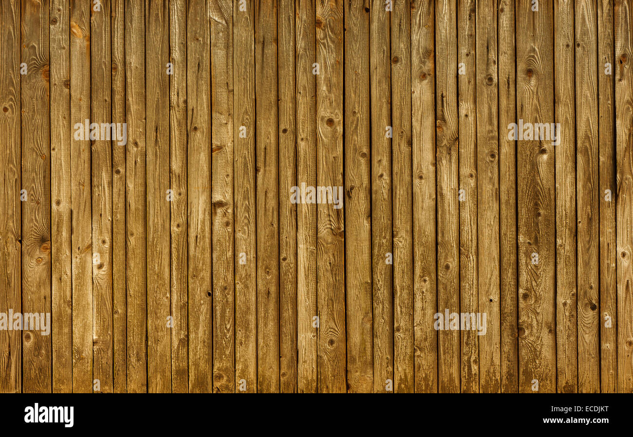 Old wood wall as background - Stock Image