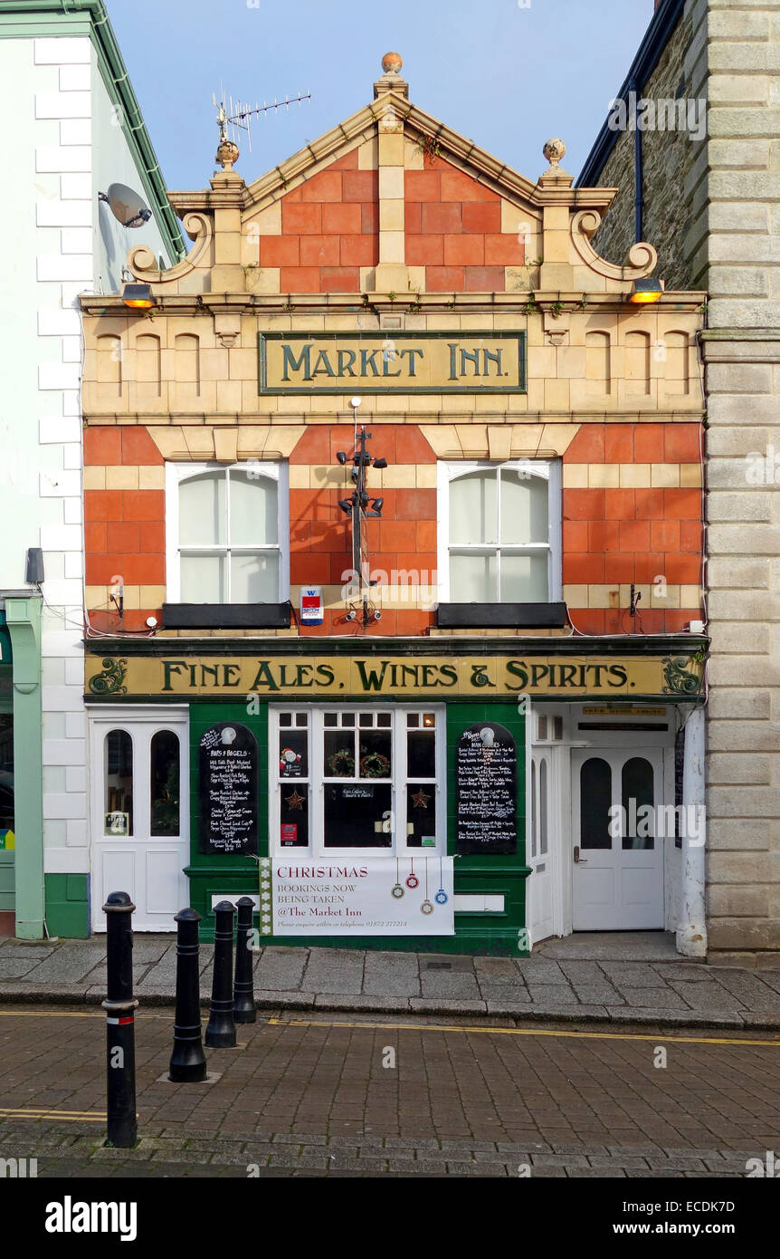 The Market Inn in Truro, Cornwall, UK - Stock Image