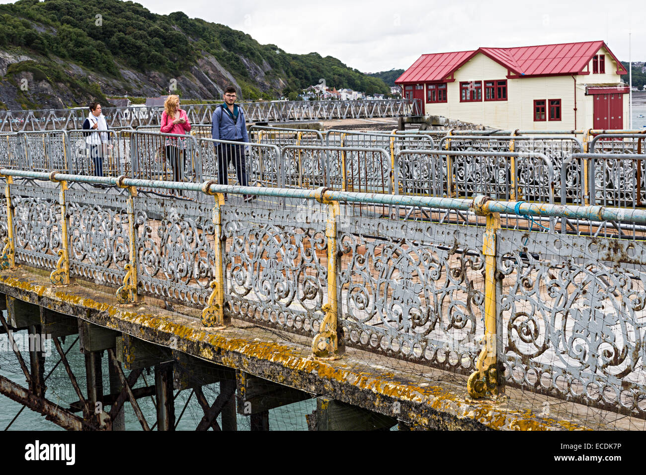 Railings in poor condition on the pier at Mumbles, Swansea, Wales, UK - Stock Image