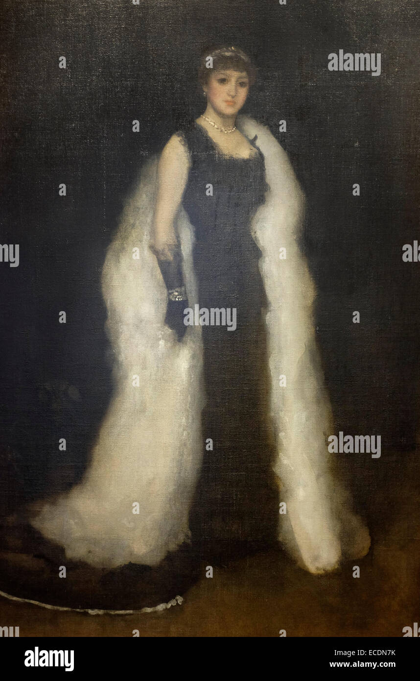 Arrangements in Black No. 5 Lady Meux 1881 James McNeill Whistler - Stock Image