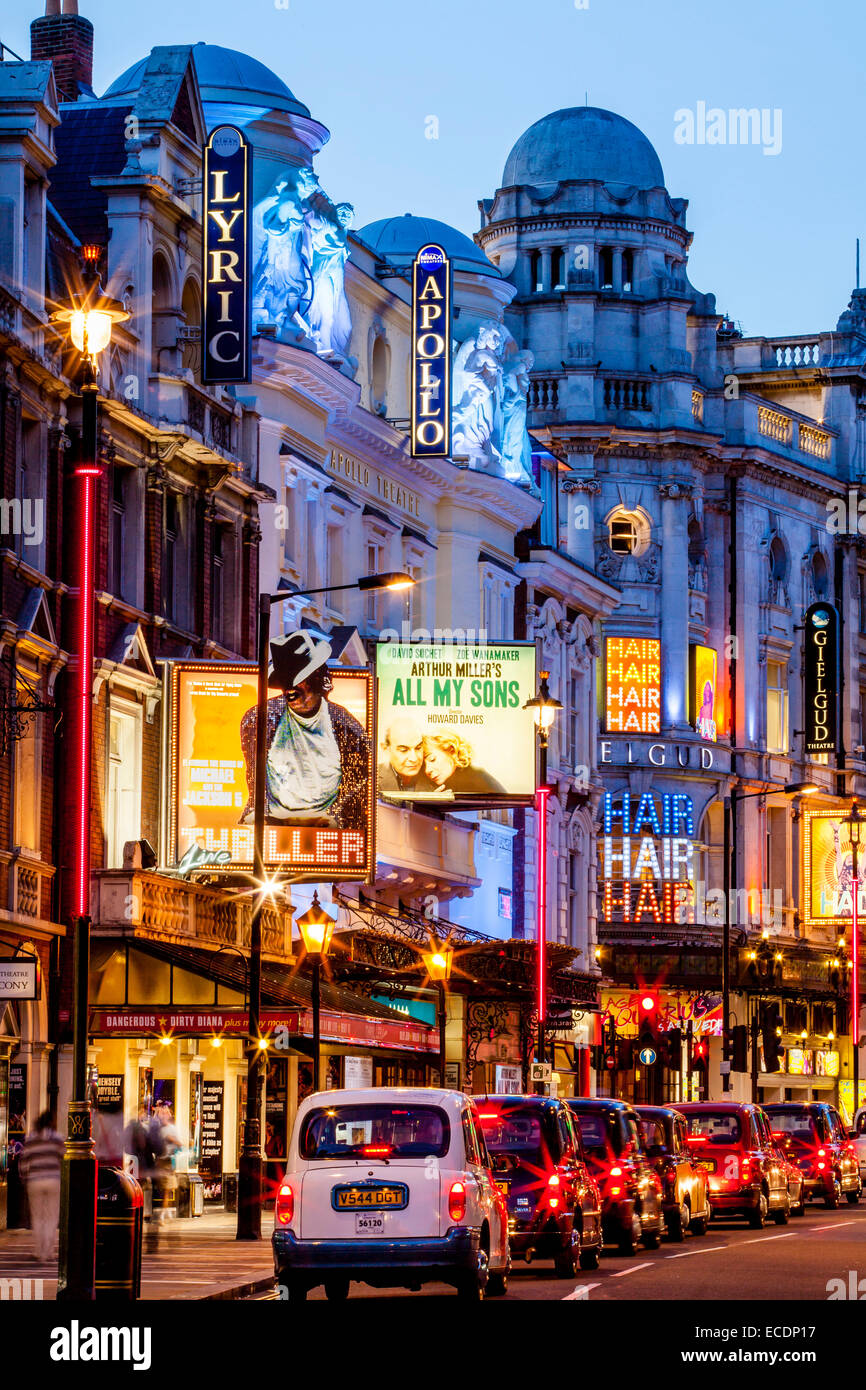 Theatre Land, Shaftesbury Avenue, London, England - Stock Image