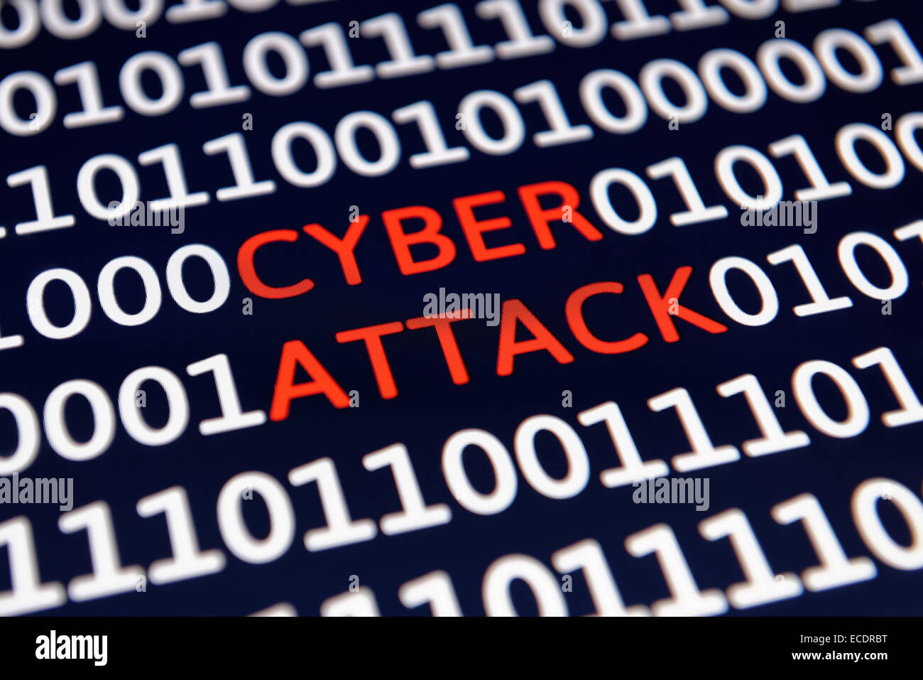 Cyber Attack - Stock Image