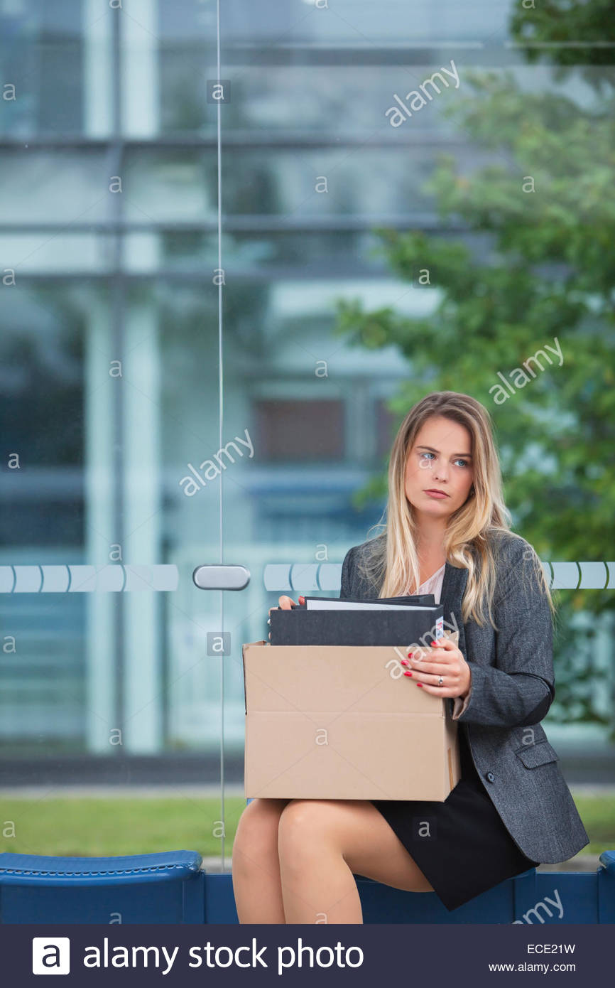 Woman frustrated frustration anxiety bankrupt - Stock Image