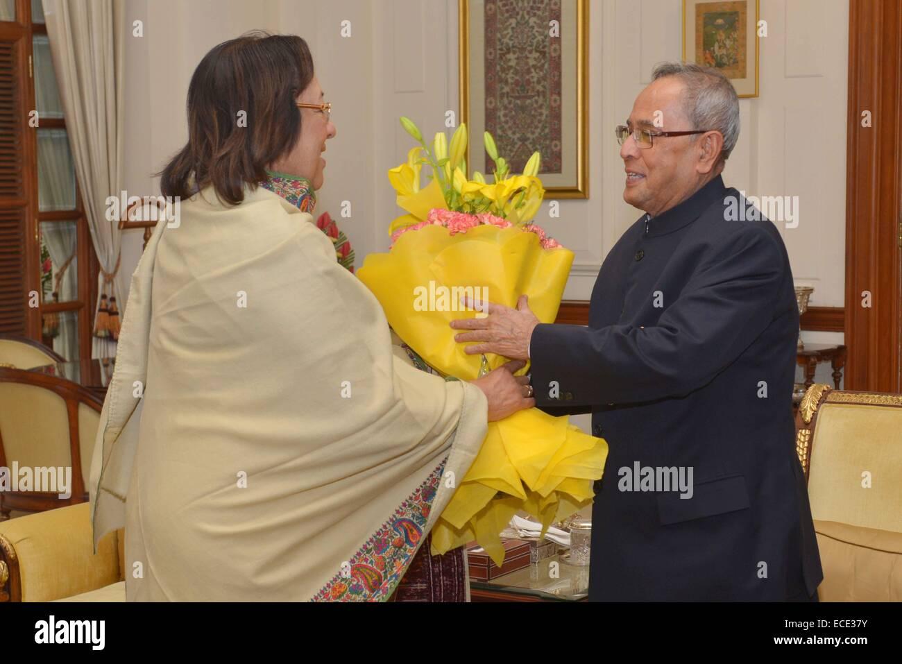 New Delhi India 11th Dec 2014 The President Of India Shri