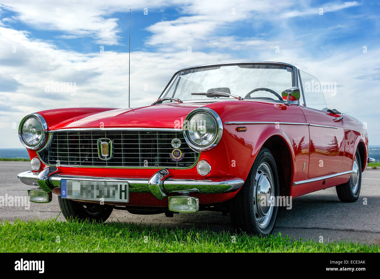 Vintage 1500 FIAT Spider, Cabriolet from 1963 to 1966, Bavaria, Germany - Stock Image