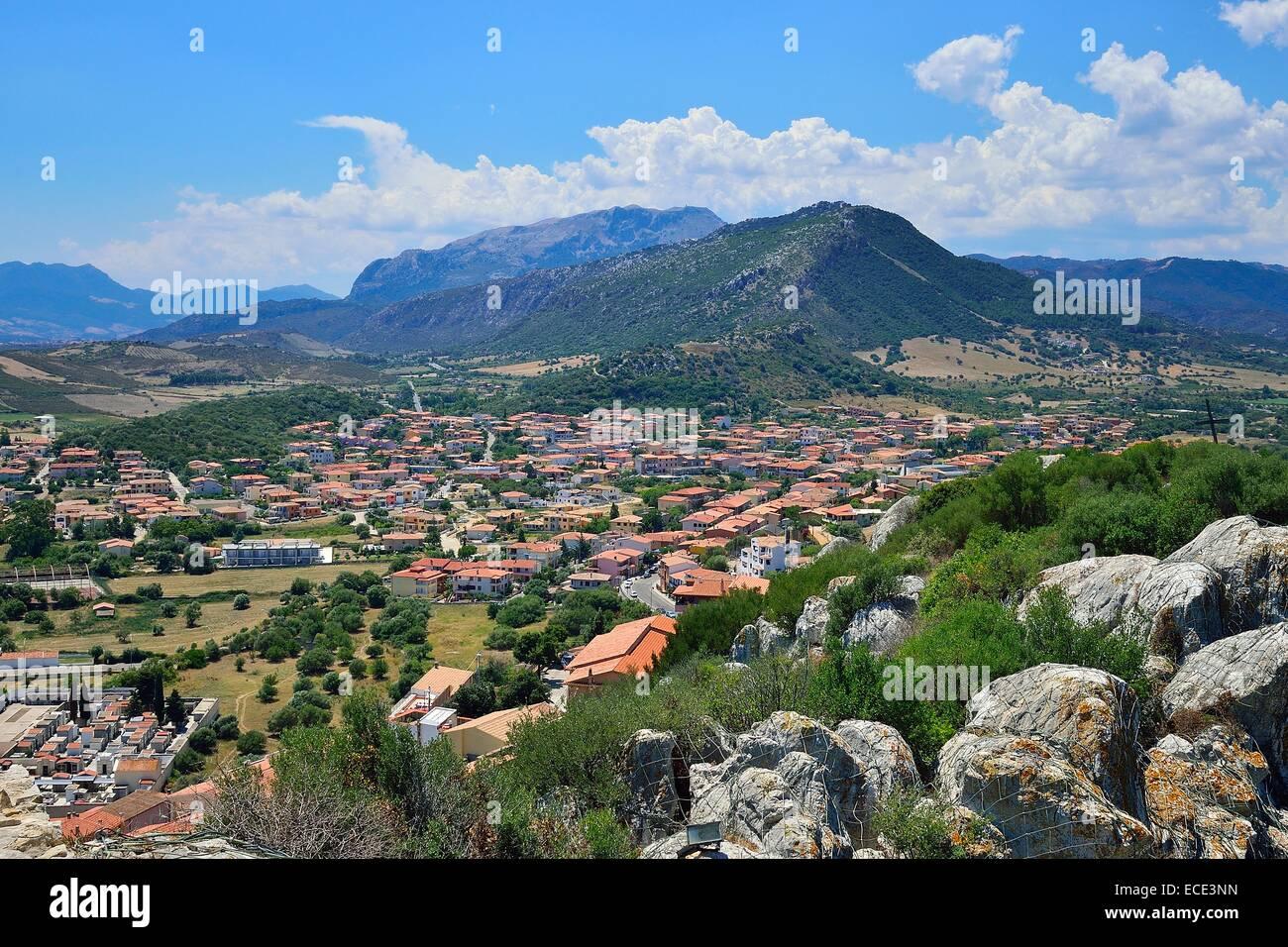 View of Monte Longu, Posada, Province of Nuoro, Sardinia