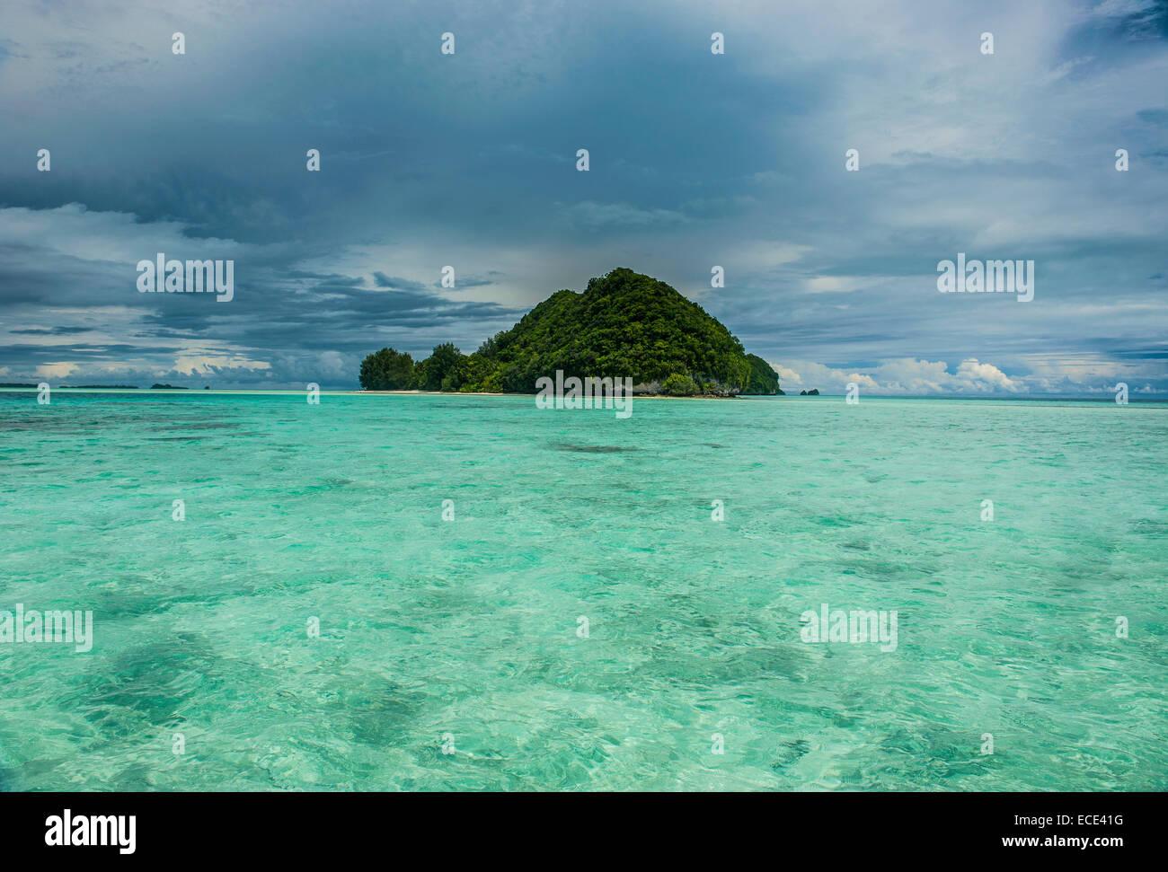 Islet, Rock Islands, Palau, Micronesia - Stock Image