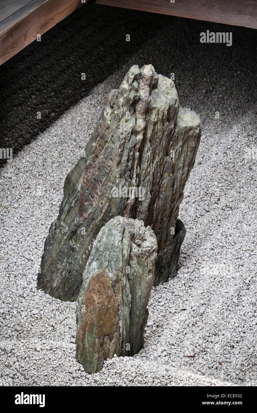 Ryogen-in Temple, Daitoku-ji, Kyoto, Japan. The tiny Totekiko courtyard garden is the smallest kare-sansui (dry) - Stock Image