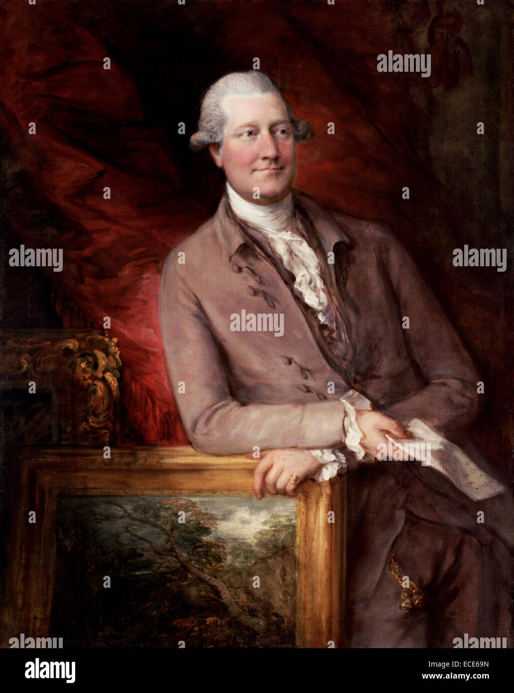 Portrait of James Christie (1730 - 1803) by Thomas Gainsborough, English, 1727 - 1788; 1778; Oil on canvas; Unframed: - Stock Image