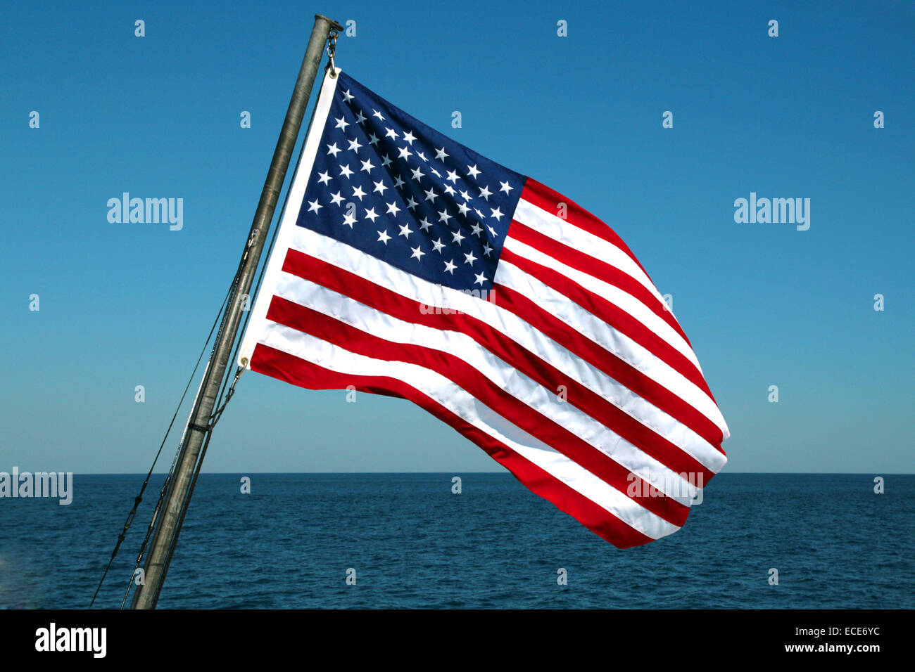 Flagge Amerikanische Flag American Amerika Fahne Fahnen Amerikanisch typisch typical America Stars and Stripes red Stock Photo