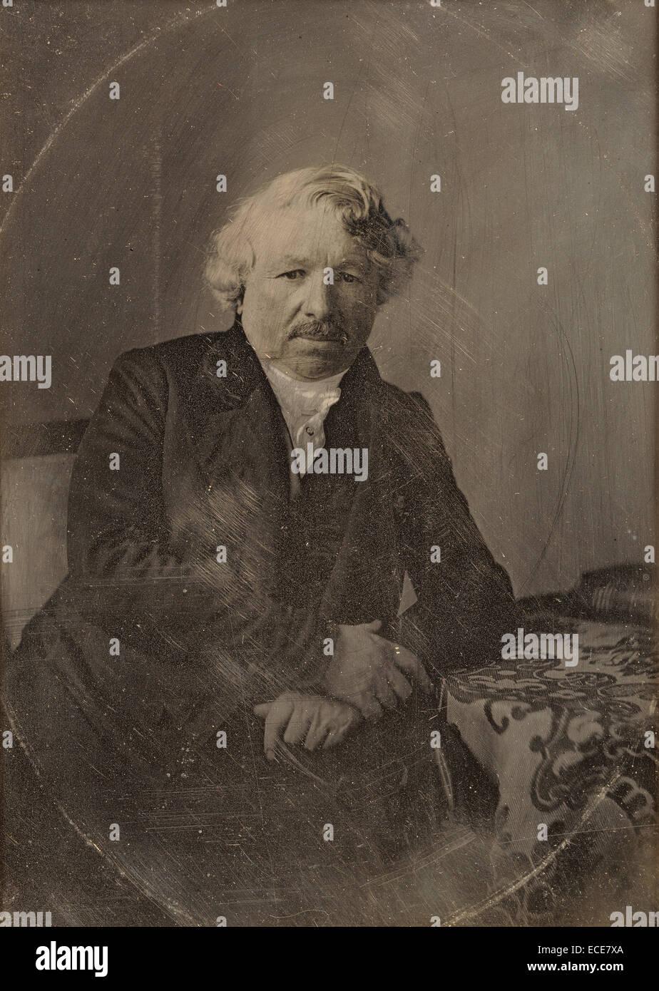 Portrait of Louis-Jacques-Mandé Daguerre; Charles Richard Meade, American, 1826 - 1858; Bry-sur-Marne, France, Europe; Stock Photo